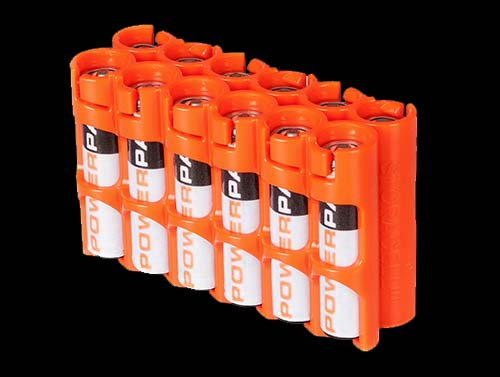 Powerpax Battery Caddy 12 x AAA (Orange)