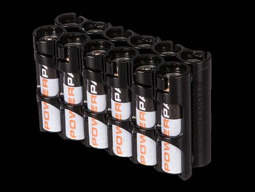 Powerpax Battery Caddy 12 x AAA (Black)