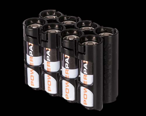 Powerpax Battery Caddy 8 x AA (Black)