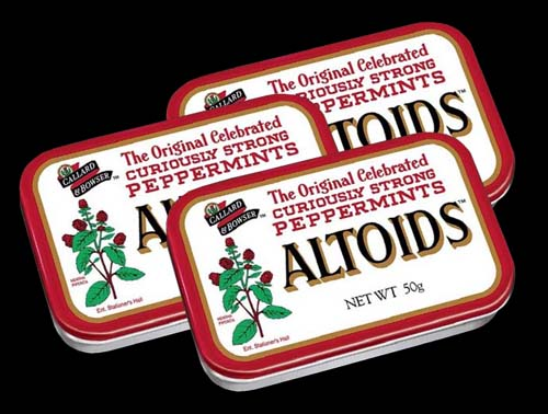 Altoids Strong Mints 50g Tin 3-Pack (Peppermint)