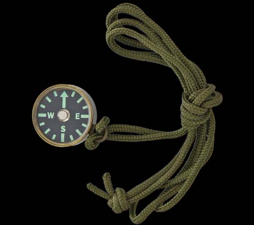 EDC Combat-Ready Brass Compass with Lanyard