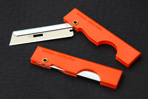 CountyComm Pocket Straight Razor (Orange)