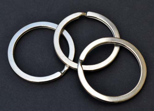 EDC 32mm Stainless Steel Flat Split Ring (1 pack)