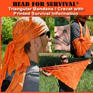 Survival Metrics Survival Bandana/Shemagh (Orange) Alternate 1