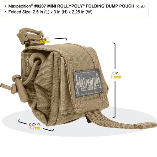 Maxpedition Mini Rollypoly Folding Dump Pouch (Foliage)