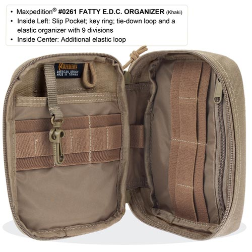 Maxpedition Fatty EDC Organiser (Khaki) Alternate 3