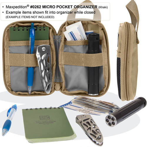 Maxpedition Micro EDC Pocket Organiser (Black)