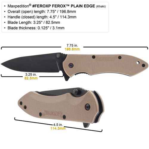 Maxpedition Ferox Knife (Green)