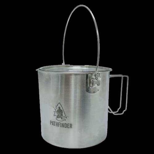 Pathfinder Stainless Bush Pot (1.8L)