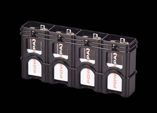 Powerpax Battery Caddy 4x 9V - Black