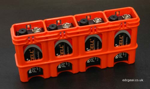 Powerpax Battery Caddy 4x 9V - Blaze Orange Alternate 1