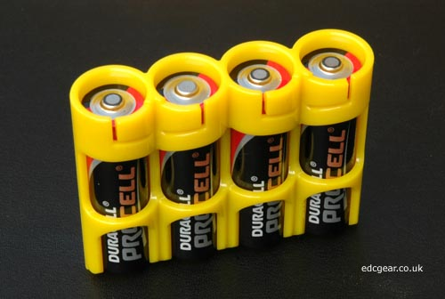 Powerpax Battery Caddy 4x AA - Caution Yellow Alternate 1