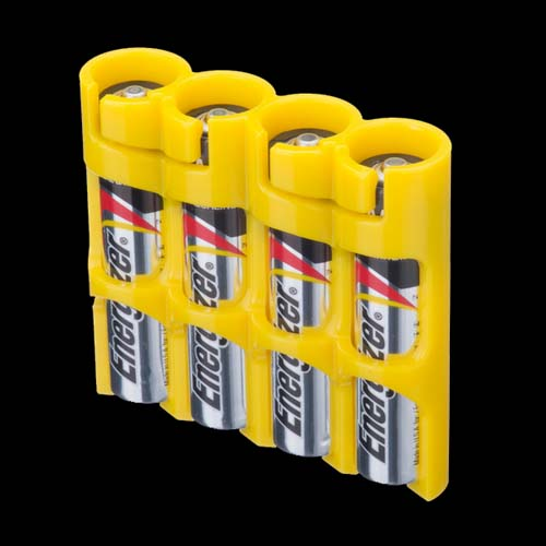 Powerpax Battery Caddy 4x AAA - Yellow
