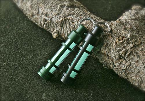 TEC Accessories TEC-A3 Embrite Glow Fob - Green Anodized (Aqua Glow)